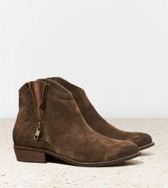 Brown Zipper boots