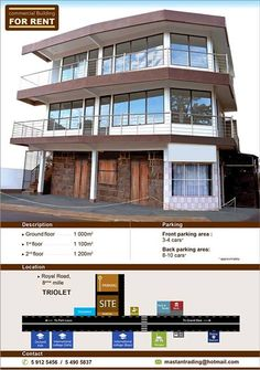 Mr. Wasiim Najurally - Commercial Building for Rent. Info: 5912 5456 / 5490 5837