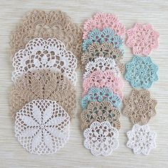 Beginner Crochet Patterns Quick : Easy Crochet Doily for Beginners The pattern is very easy, and the ...