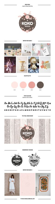 """#logotype #logo #inspiration #design #board #graphic #branding #calligraphy #lettering #floral #boho  #beauty #makeup  Check out new work on my @Behance portfolio: """"KOKO room logo"""" http://on.be.net/1jL47OX"""