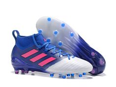 Adidas ACE 17.1 Firm Ground Blue & White Soccer Cleats