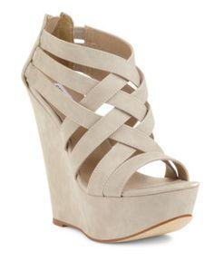 Steve Madden Women's Shoes, Xcess Platform Wedge Sandals. Yes please.
