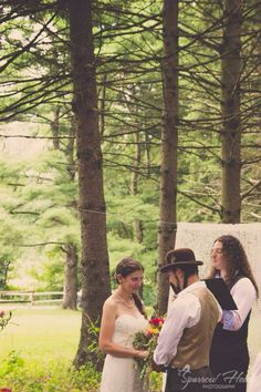 Bride Groom Forest Trees Wedding Woods Park Hippies Copyright Sparrow Heart Photography - Pittsburgh, PA