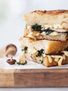 Mushroom & Kale Grilled Cheese