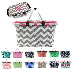 d17335af5589 Personalized Large Picnic Basket Insulated Cooler Tote Bag - Gifts Happen  Here - 1 Market Baskets