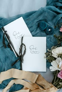 So many beautiful details in this Lakeshore Wedding Inspiration! Velvet Ring Box, Vow Book, Flatlay Styling, Fashion Books, Silk Ribbon, Wedding Trends, Wedding Stationery, Wedding Details, Real Weddings