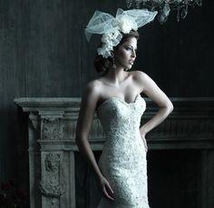 avante garde accessory #bridal #hair #bold