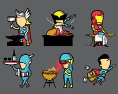 Chow Hon Lam (aka Flying Mouse)is an award winning illustrator from Malaysia, specialized in t-shirt designs. In this time of global crisis he wondered if also super heroes might need a second job and what it could be. Funny stuff, specially the Batman's one.