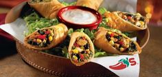 chilis southwest eggrolls...delicious with ranch!
