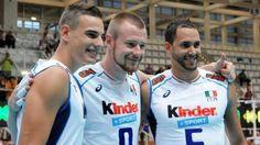 Simone Giannelli, Ivan Zaytsev and Osmany Juantorena (Italy, volleyball)