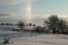 Ice Bow (Rainbow in the dead of winter!) Rural Minnesota - this was near Christmas