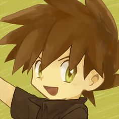 Gary Oak, Red And Blue, Blue Green, Green Pokemon, Original Pokemon, Pokemon Fan Art, Manga, Trainers, Artist