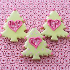 Galletas de árboles de Navidad de Cakes Haute Couture
