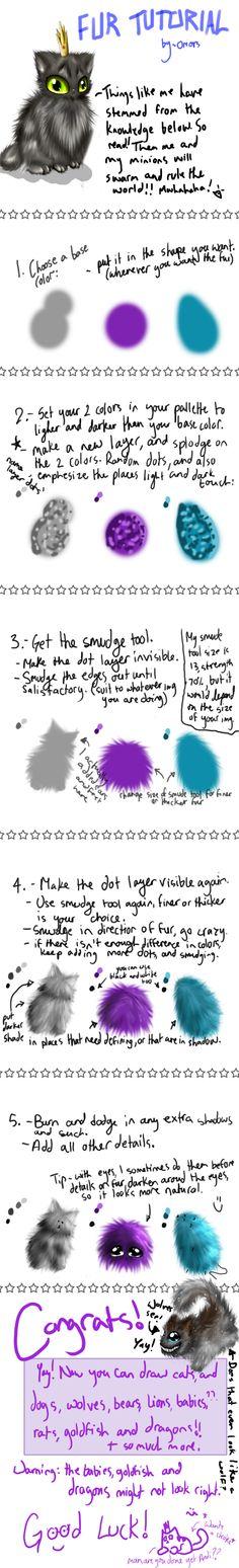Simple Fur Tutorial by =Oriors