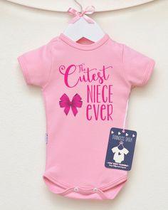 Cutest Niece Ever Baby Girl Bodysuit. Aunt by LittlePrincessTara