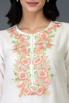 Phulkari Embroidery, Embroidery Dress, Beaded Embroidery, Hand Embroidery, Embroidered Clothes, Embroidered Silk, Embroidery Suits Design, Embroidery Designs, Saree Painting