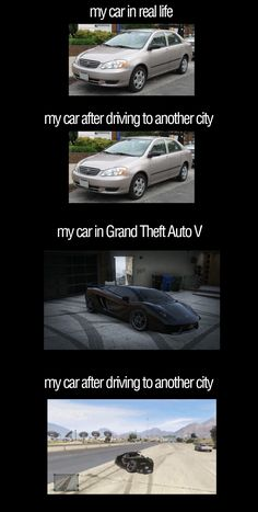 Car in reailty versus #GTA V via Reddit user bacera