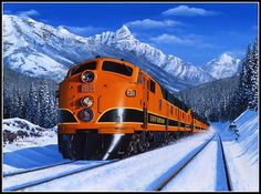 "Great Northern Railroad -- The ""Empire Builder"" passenger train."
