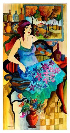 Original Patricia Govezensky Watercolor- Blurred Moments