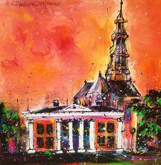 """Stadse Nazomer"" 100 x 100 cm. By Erik Zwezerijnen www.erikzwezerijnen.com Painting, Art, Kunst, Art Background, Painting Art, Paintings, Performing Arts, Painted Canvas, Drawings"