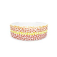 Kess InHouse Sreetama Ray Sunset Arrows Pet Bowl 475Inch Red Abstract * Click image for more details.