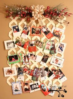 Lattice Christmas Card Display