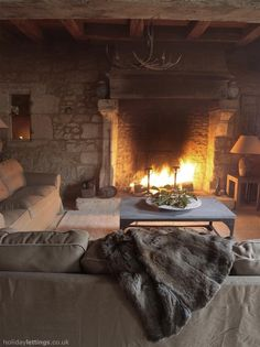 Love this room with the fireplace !