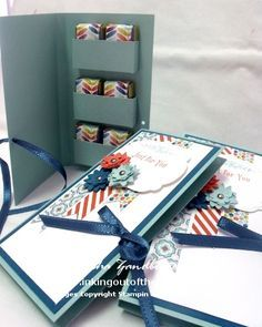 "Wrapped Chocolates Portfolio Case  By Natasha ""SU Leadership 2013 friend gifts - with tutorial"""
