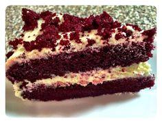 Slice of my red velvet cake