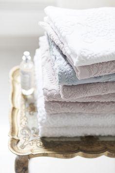 Lennol | Luxurious, pastel hand and  bath towels with ornamental design Bath Towels, Pastel, Luxury, Spring, Design, Cake, Bathroom Towels, Crayon Art