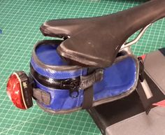 Bike seat bag pattern & tute by Dill Pickle Gear Bike Seat Bag, Bike Saddle Bags, Bicycle Bag, Leather Saddle Bags, Bag Patterns To Sew, Sewing Patterns Free, Free Sewing, Sewing Ideas, Sewing Projects