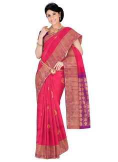 Pink Kanjiwaram Silk Wedding Sarees