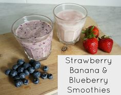Breakfast for the Kids - Strawberry Banana Smoothie