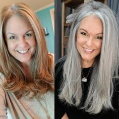 Gray Hair Growing Out, Grow Hair, Short Grey Hair, Short Hair Styles, Grey Hair Before And After, Grey Hair Transformation, Charcoal Hair, Transition To Gray Hair, Silver Grey Hair