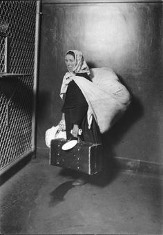 Slovak Mother Ellis Island, Ellis Island Series, ca, 1905, by Lewis Hine.