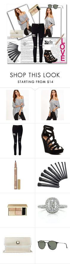 """♥LOS♥: Shein"" by fashionpassiongirlx ❤ liked on Polyvore featuring Miss Selfridge, Chinese Laundry, Mark Broumand, Elie Saab and Ray-Ban"