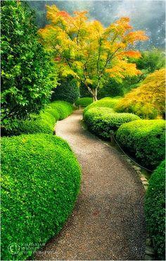 Portland Japanese Garden Oregon, United States.