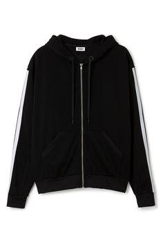 Weekday Reflective Zip Hoodie in Black
