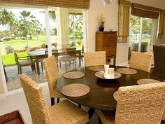 Dining Areas - Both Interior and Lanai Dining Tables
