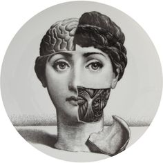 Fornasetti Theme & Variations Decorative Plate #189 at Barneys.com