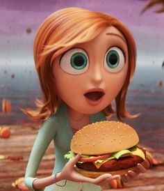 Cartoon Doppleganger. Sam from Cloudy with a Chance of Meatballs.