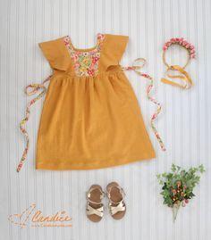 The Mori Dress PDF Sewing Pattern by Elegance and Elephants - Sewing for Girls - PDF Sewing Pattern