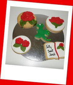 Nuevos modelos de galletas para Sant Jordi. Y, que no falta el libro y el dragón.