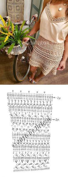 Ажурная юбка от Ванессы Монторо   Вязание для женщин   Вязание спицами и крючком. Схемы вязания.