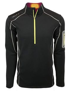 947c7fce0e91 VOLT Mens 5V Heated Thermal Half Zip Perfect for Warming Your Body s Core  Review Heated Clothing