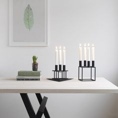 Kubus 4 from by Lassen, the geometric candleholder from Mogens Lassen. Discover it now in the Connox interior design shop. Design Shop, Shop Interior Design, Nordic Design, Scandinavian Design, Nordic Style, Ludwig Mies Van Der Rohe, Traditional Candle Holders, Long Candles, Iron Candle Holder