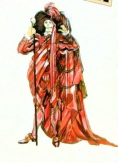 """Costume Sketch for the Phantom's """"Red Death"""" Costume"""