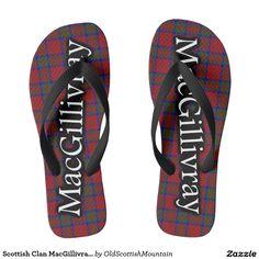 Scottish Clan MacGillivray Tartan Flop Flops