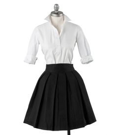 ANN MASHBURN Box-Pleat Skirt. Love it paired with this oxford. So classic.