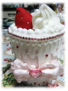 felt strawberry shortcake